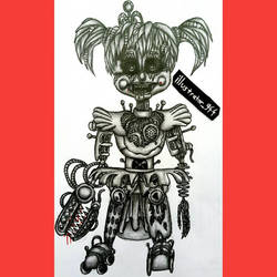 Scrap Baby Drawing by illustrator944