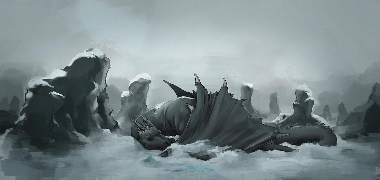 Sleeping Dragon by TheMoub