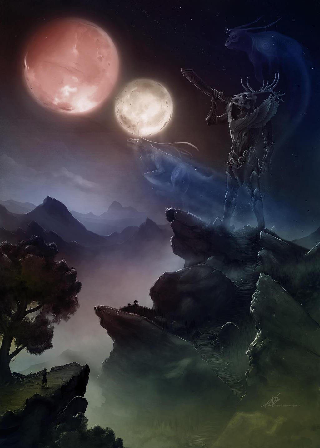 Skyrim hircine wallpaper