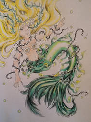 Spring Leaf Fin Mermaid by Lady-Pinkfins