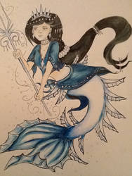 Winter Jagged tail Mermaid by Lady-Pinkfins