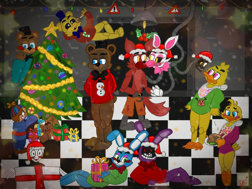 Merry Christmas to Freddy's by ponyrlucy on DeviantArt