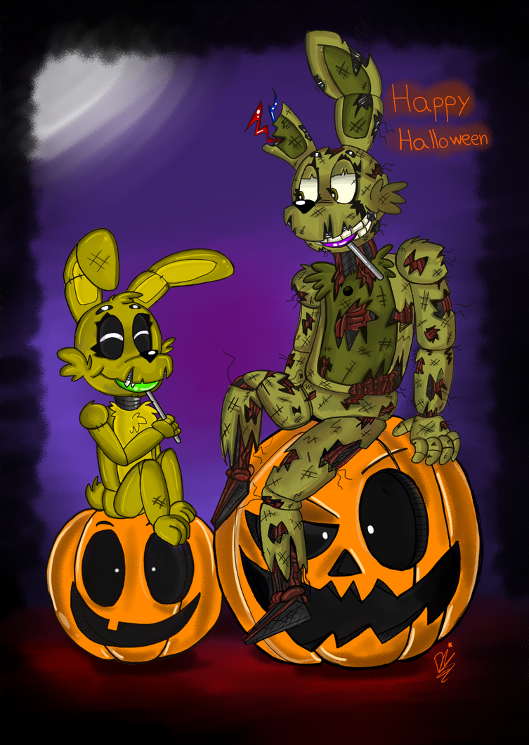 Fnaf_Happy Halloween by ponyrlucy on DeviantArt