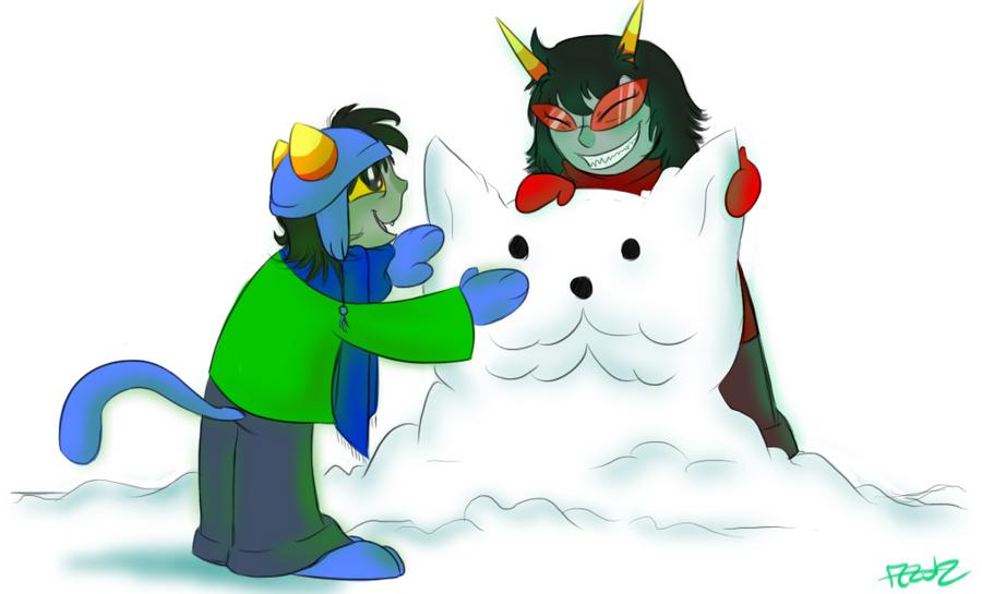 Snow Lusus by KeroseneCanine