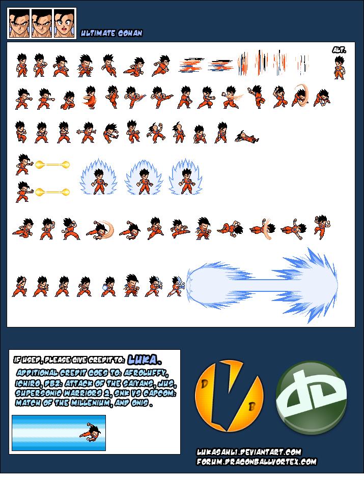 Gohan Ultimate Sheet By Lukasahl1 On Deviantart