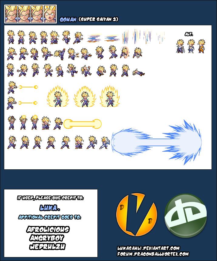 Gohan Super Saiyan 2 Sheet by LukasAhl1