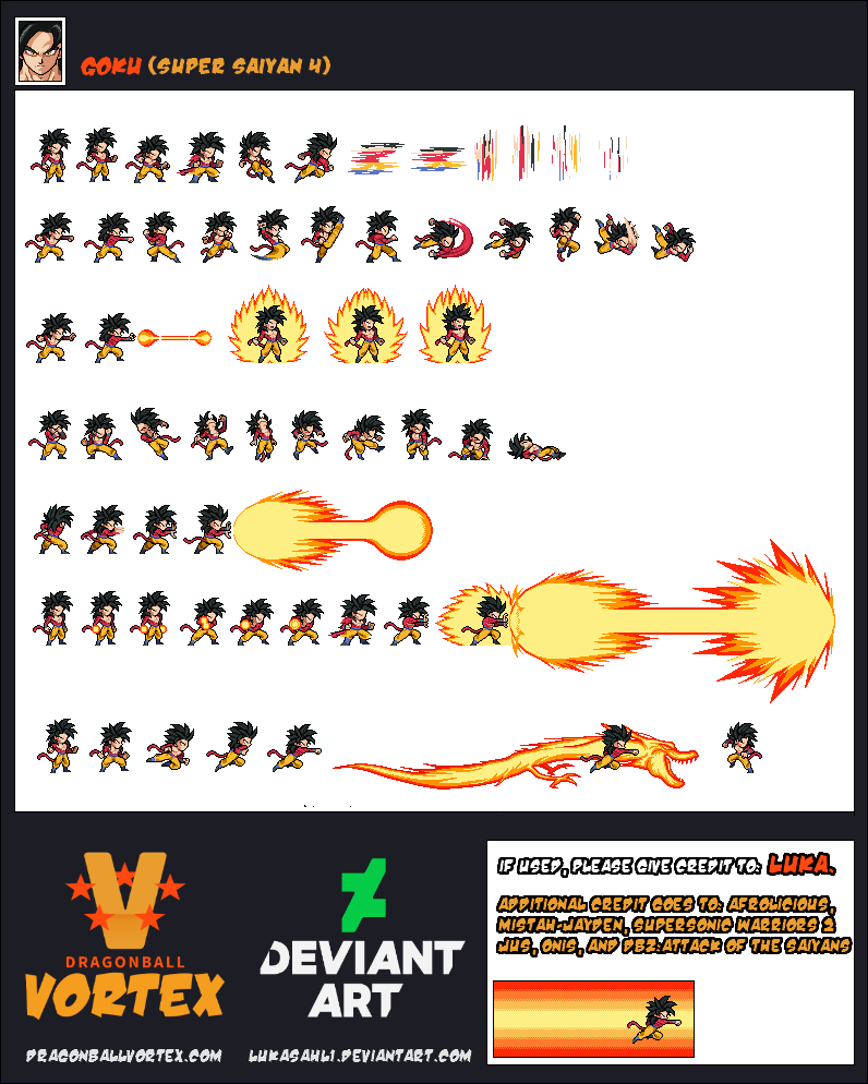 Goku Super Saiyan 4 Sheet by LukasAhl1