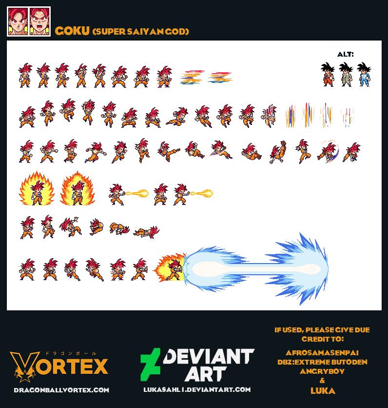 Goku Super Saiyan God by LukasAhl1