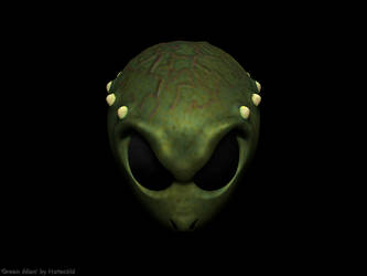 Green Alien wp by Hatecold