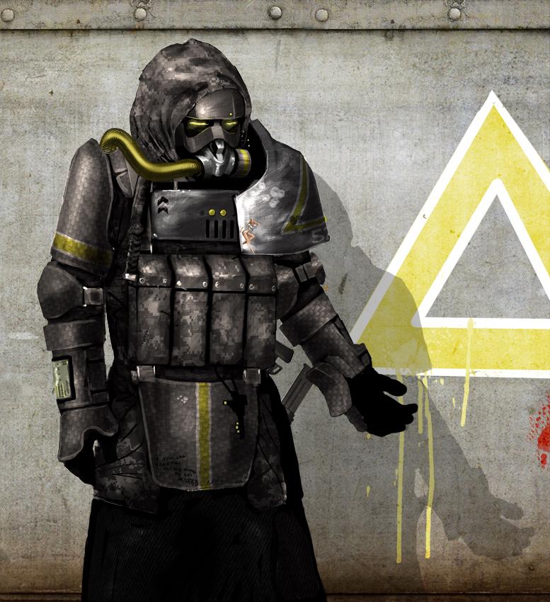 Soldier concept 2 by Kamikazuh