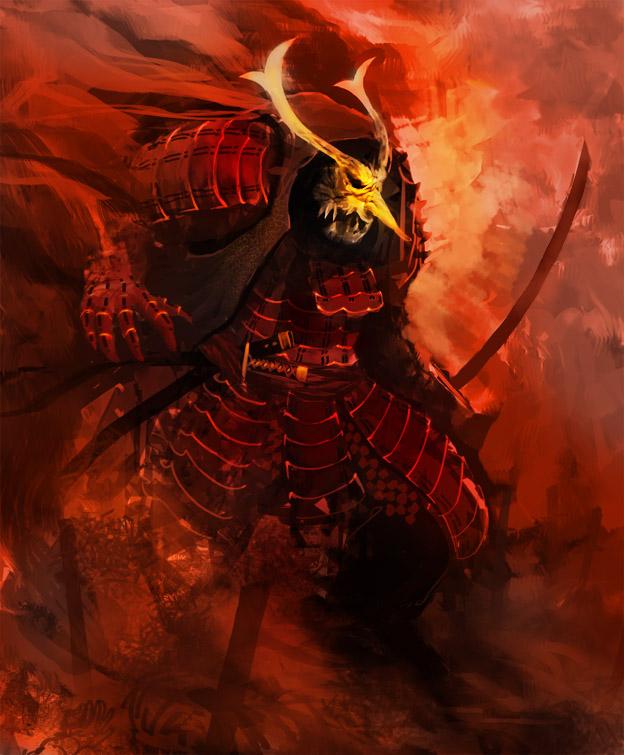 Big samurai monster ARRR by Kamikazuh
