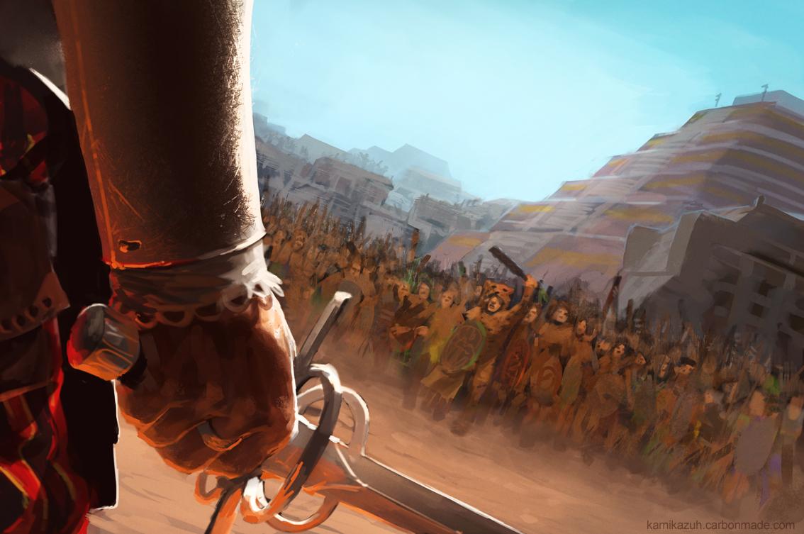 The Cholula Massacre by Kamikazuh