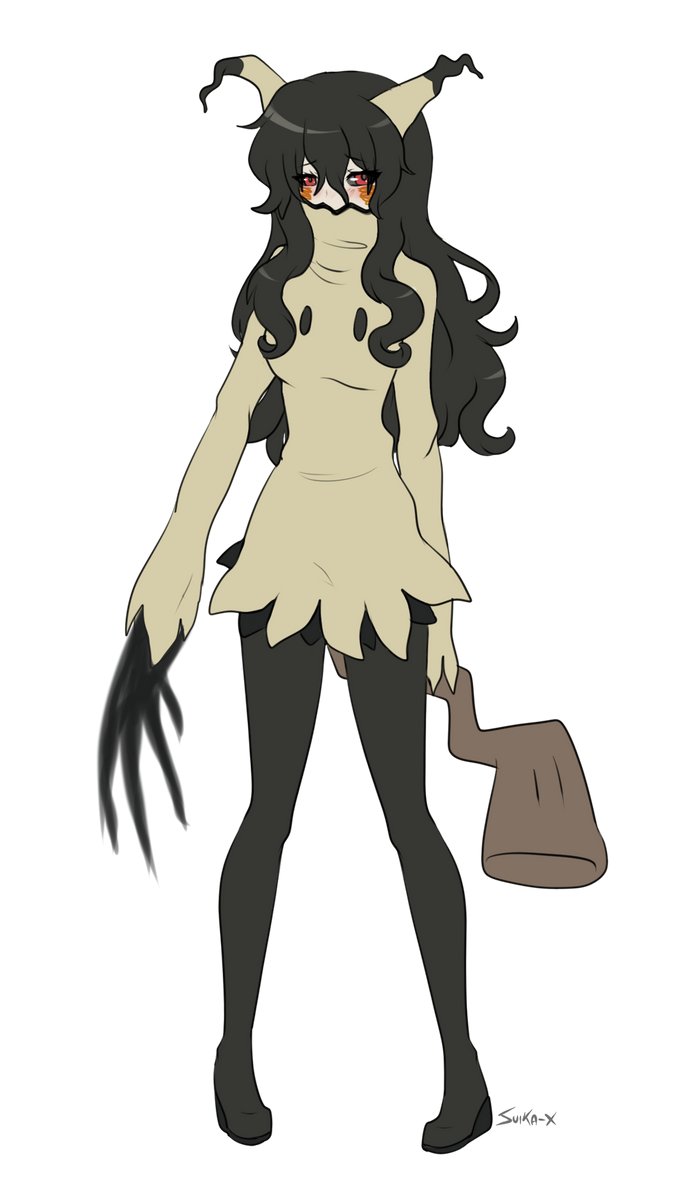 Mimikyu gijinka by Suika-X on DeviantArt