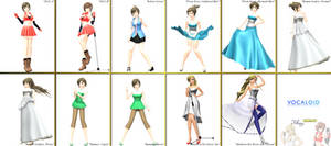 .::MMD Watcher DL Series::. Kio MEIKO + Sweet Ann by Jomomonogm