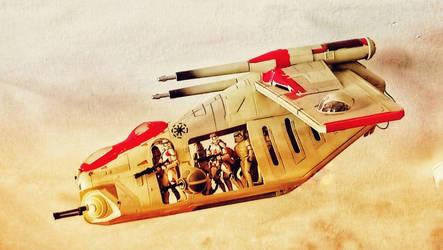 Republic Gunship by Krulos