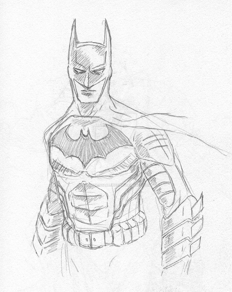 How to draw batman dark knight