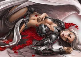 Zahira with roses