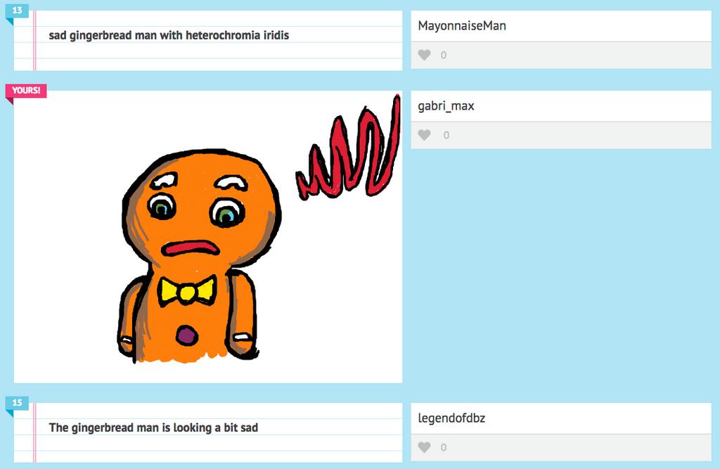 Sad Gingerbread Man With Heterocromia Iridis by GabriMax