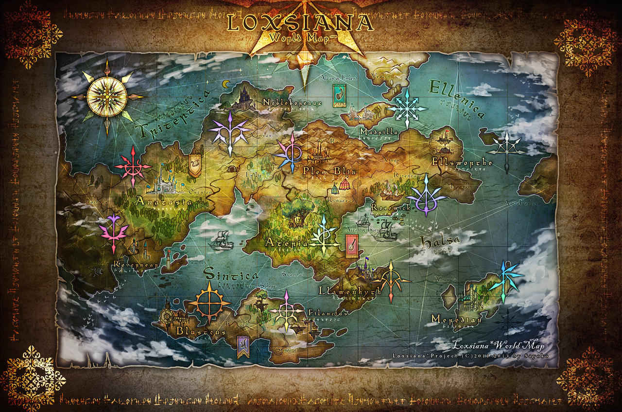 LOXSIANA World Map by loxsiana
