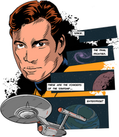 Star Trek. These are the voyagers.... by DaveMilburn
