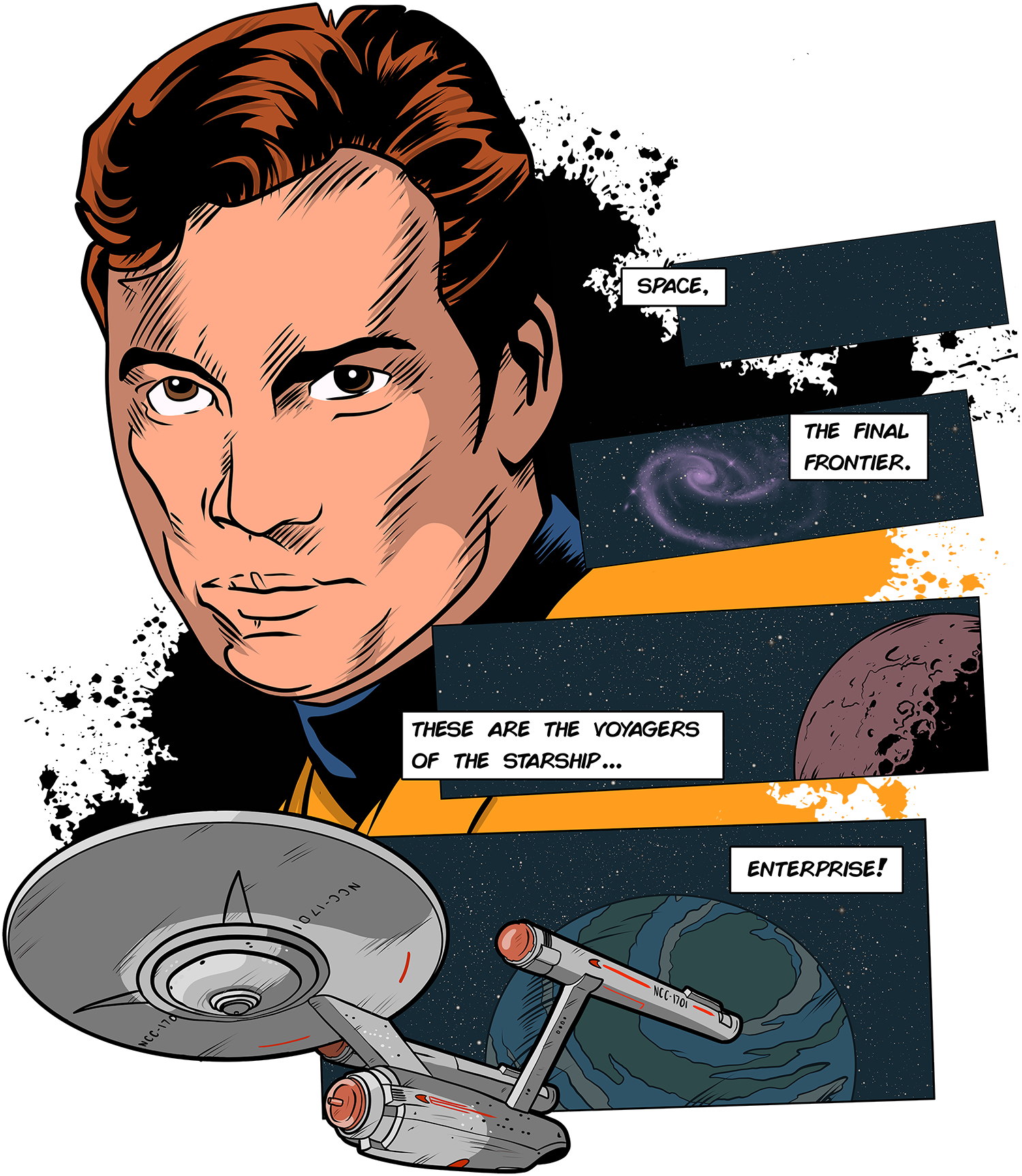Star Trek. These are the voyagers....