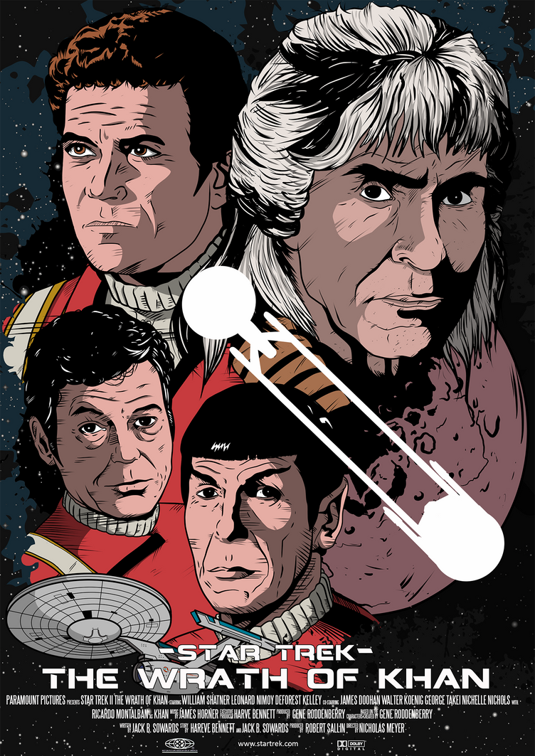 Star Trek II Wrath of Khan Poster by DaveMilburn