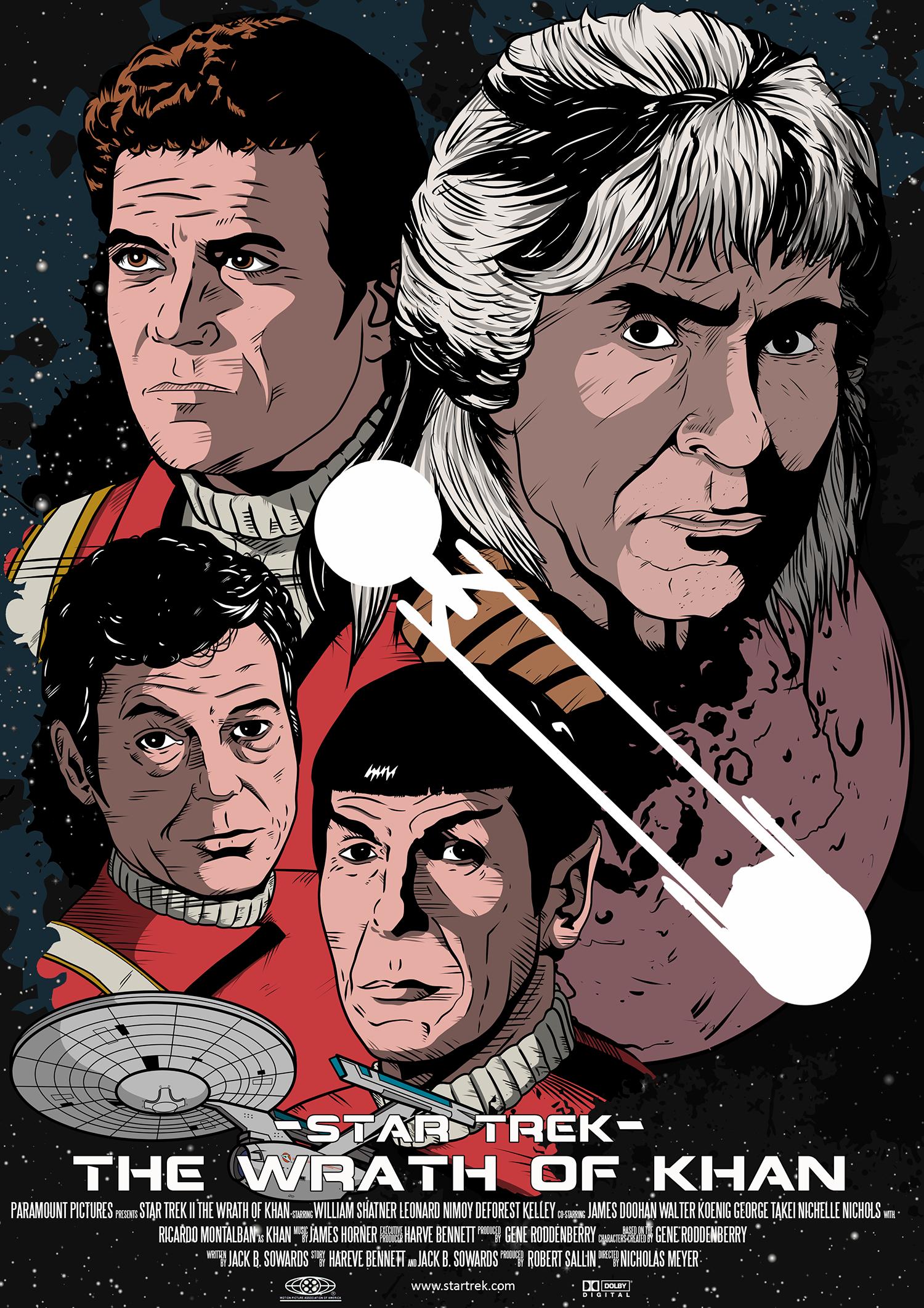 star trek ii wrath of khan poster by davemilburn on deviantart
