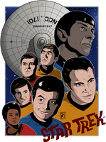 Star Trek Poster by DaveMilburn
