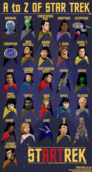 A to Z of Star Trek TOS Poster