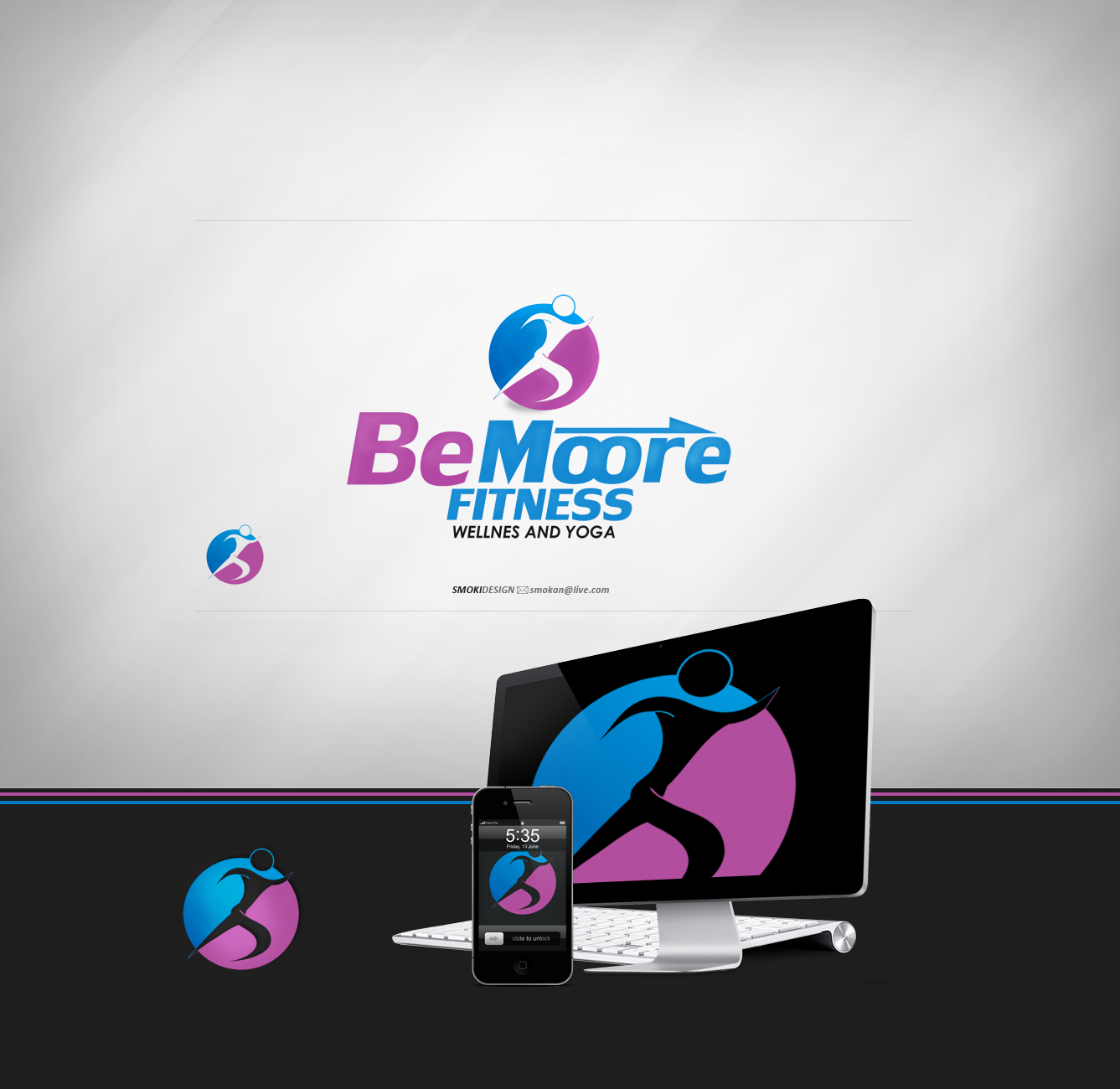 BeMoore Fitness logo by sm0kiii