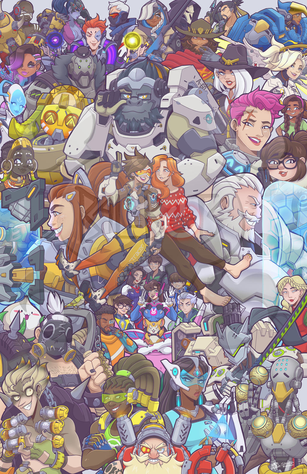 Overwatch Fanart Poster By Ballbots On Deviantart