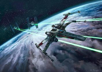 X-wing by Blik1976