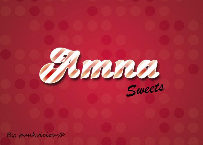 Amna Sweets logo by punkvicious