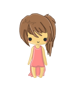 Brown Haired Girl by Mikuyo