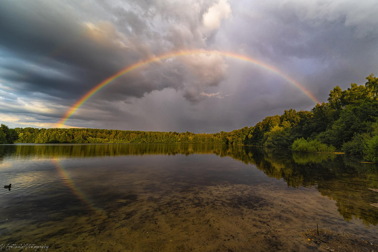 rainbow at the lake