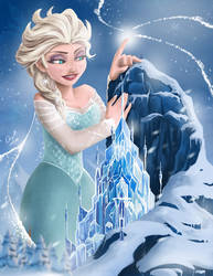 Elsa, Snow Goddess by angelgts