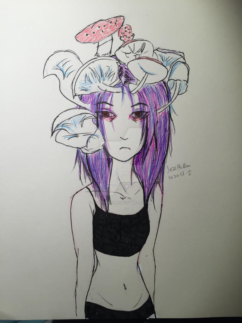 Mushroom Head Sketch by JazzTheRiver