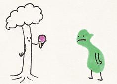 Sad Naked Orc + Ice-cream Tree by Fishbug