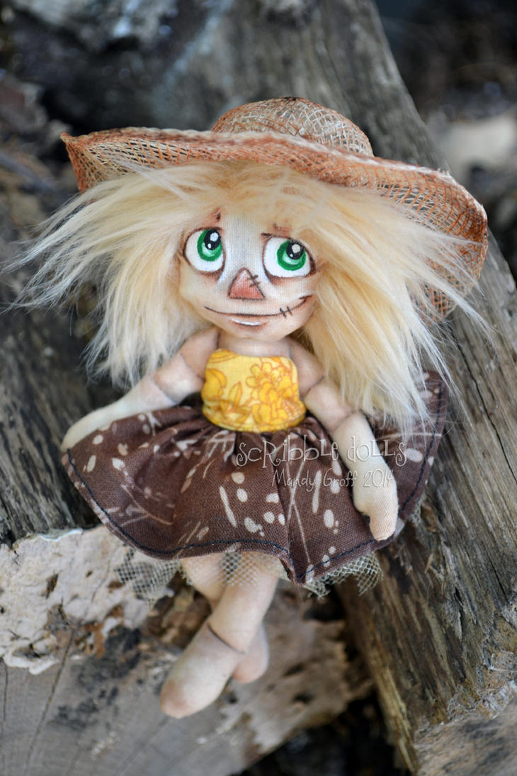 Birdie the Scarecrow 1 by Scribble-Dolls
