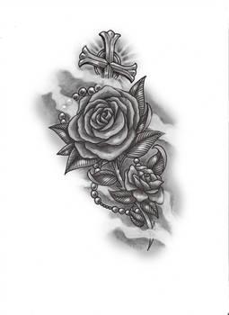 rose n rosary by konZ3pt