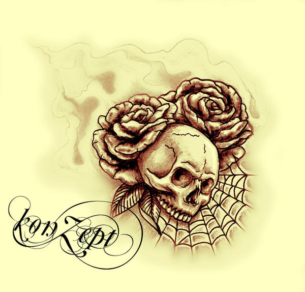 rose-skull by konZ3pt