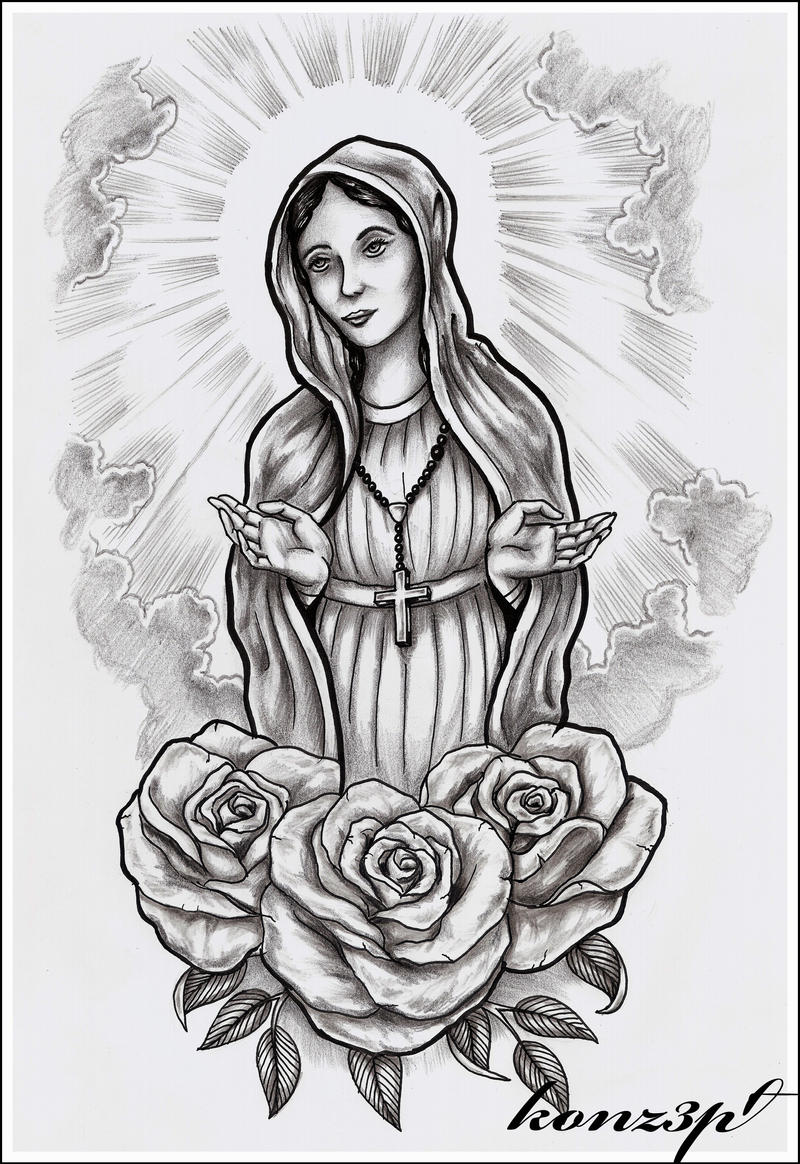 Holy mary by konz3pt on deviantart for Holy mary tattoo