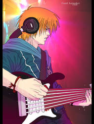 Jin Playing the guitar_Color