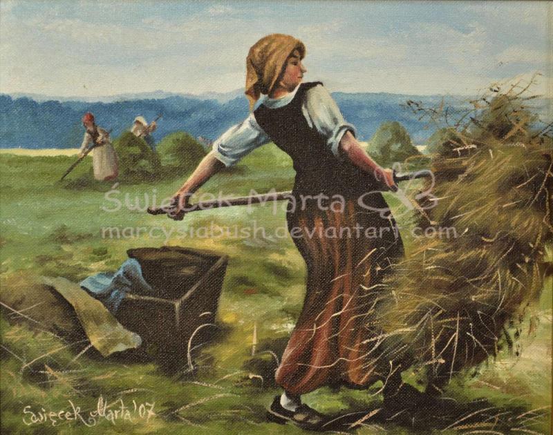 woman in a field by Marcysiabush
