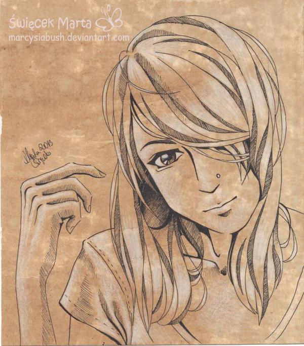 Manga Autoportrait by Marcysiabush