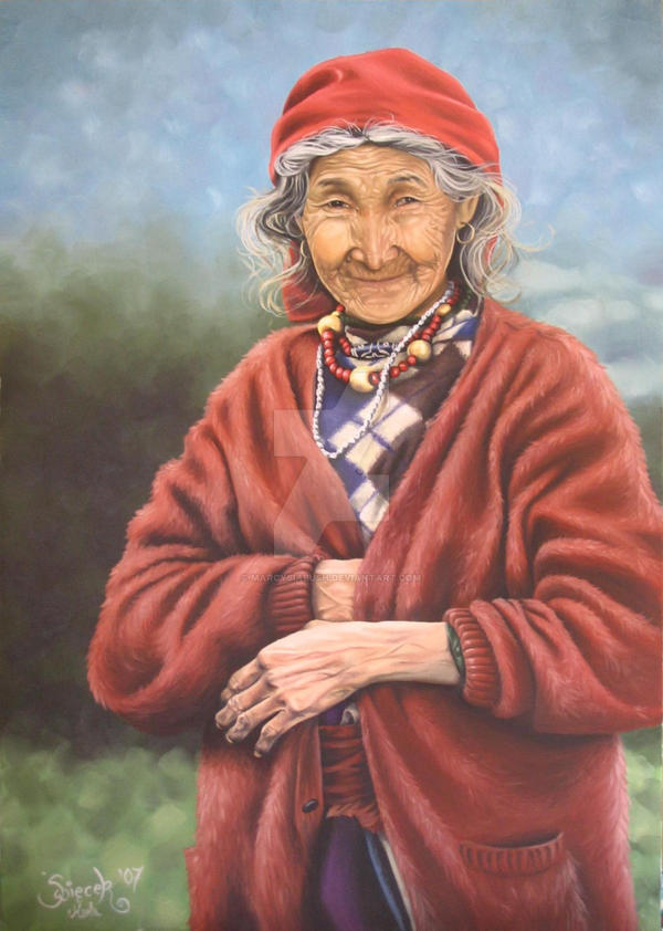 Tibetain Grandma by Marcysiabush