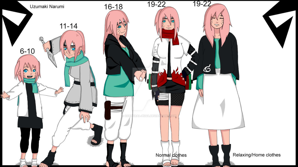 Uzumaki Narumi Evolution by Corporal-Pizza