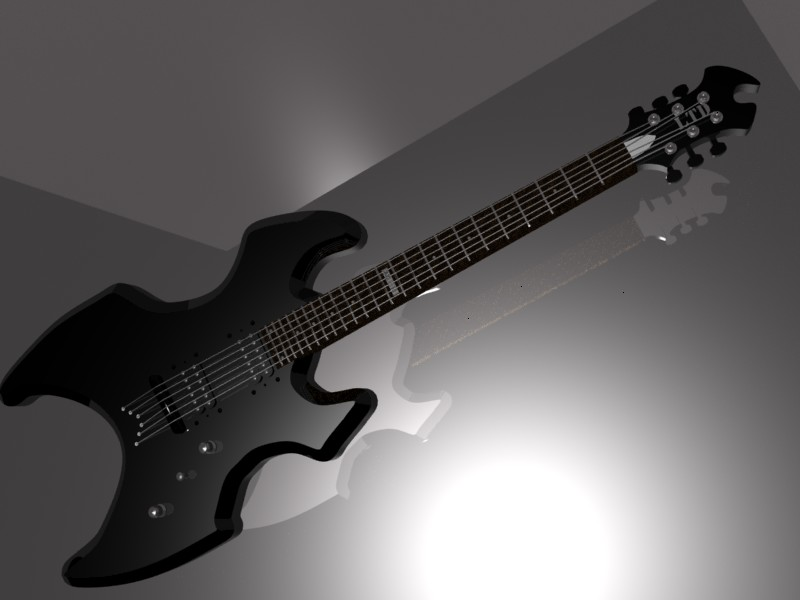ESP Ltd AX 50 Guitar In Black By The Commissar