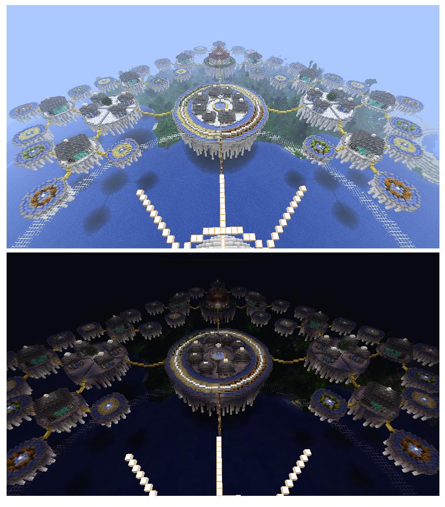Floating city of Aquaria by Plushine