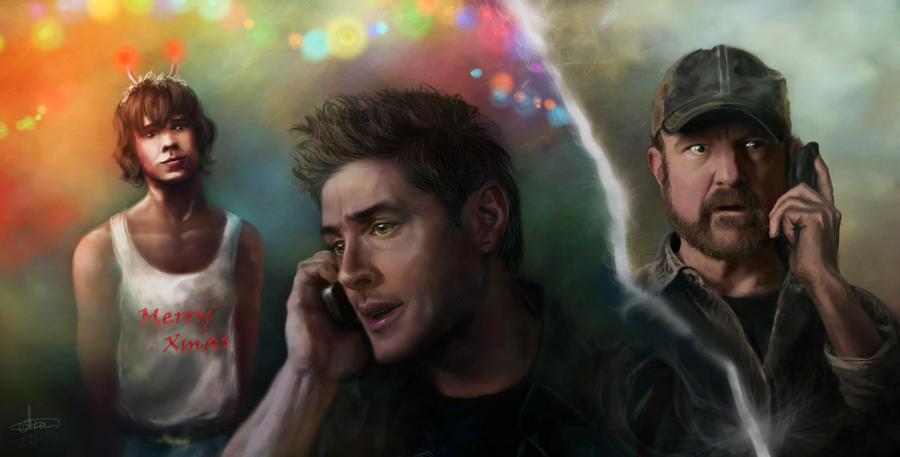 WTF?.. -SPN Xmas ART- Full view recommended by Syllirium